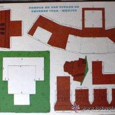 Coleccionismo Recortables: TEMPLO DE LOS TIGRES EN CHICHEN ITZA - MÉXICO. RECORTABLES EVA 2.406. Lote 151203577