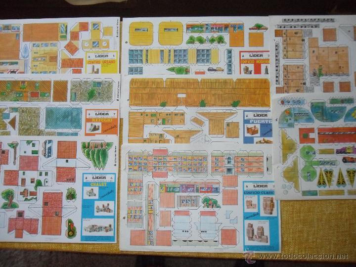 GRAN RECORTE. CASAS MODULARES. 8 MODELOS. EDITORIAL ROMA. 8 LAMINAS. 39 X 27 CMS. AÑOS 70. EL LOTE C (Coleccionismo - Recortables - Construcciones)
