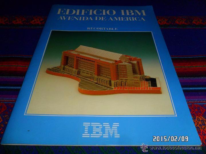 EDIFICIO IBM AVENIDA DE AMÉRICA DE MADRID. NUEVO. ESCALA 1.450 440X235X125 MMS 120 PIEZAS. MUY RARO. segunda mano
