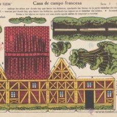 Coleccionismo Recortables: RECORTABLE CASA DE CAMPO FRANCESA. ORIGINAL EDICIONES LA TIJERA SERIE 5 NUM 82.. Lote 17122730