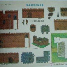 Coleccionismo Recortables: RECORTABLE CASTILLO 1308. CONSTRUCCIONES Y RECORTABLES EVA: CASAS. Lote 80159738