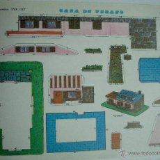 Coleccionismo Recortables: RECORTABLE CASA DE VERANO 1307. CONSTRUCCIONES Y RECORTABLES EVA: CASAS. Lote 80159750