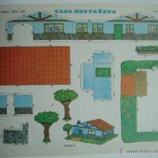 Coleccionismo Recortables: RECORTABLE CASA MONTAÑESA 1306. CONSTRUCCIONES Y RECORTABLES EVA: CASAS. Lote 51182423