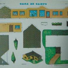 Coleccionismo Recortables: RECORTABLE CASA DE CAMPO 1301. CONSTRUCCIONES Y RECORTABLES EVA: CASAS. Lote 51182449