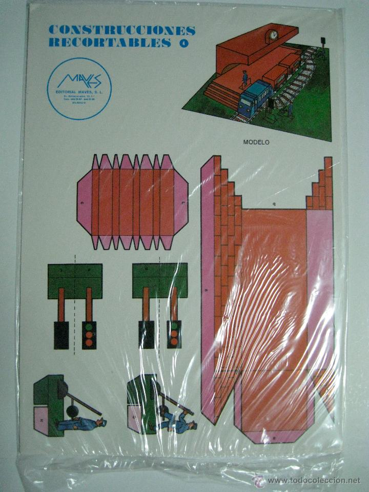 CONSTRUCCIONES RECORTABLES Nº4: ESTACIÓN DE TREN. ED.MAVES. 1981 (PRECINTADO) (Coleccionismo - Recortables - Construcciones)