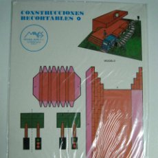 Coleccionismo Recortables: CONSTRUCCIONES RECORTABLES Nº4: ESTACIÓN DE TREN. ED.MAVES. 1981 (PRECINTADO). Lote 51182560