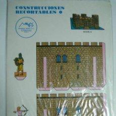 Coleccionismo Recortables: CONSTRUCCIONES RECORTABLES Nº1: CASTILLO. ED.MAVES. 1981 (PRECINTADO). Lote 70187606