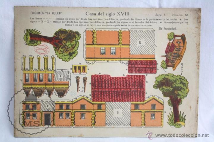 ANTIGUA HOJA RECORTABLE DE EDICIONES LA TIJERA - CASA DEL SIGLO XVIII. SERIE 5, NÚMERO 65 (Coleccionismo - Recortables - Construcciones)