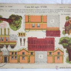 Coleccionismo Recortables: ANTIGUA HOJA RECORTABLE DE EDICIONES LA TIJERA - CASA DEL SIGLO XVIII. SERIE 5, NÚMERO 65. Lote 51414516