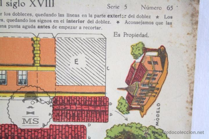 Coleccionismo Recortables: Antigua Hoja Recortable de Ediciones La Tijera - Casa del Siglo XVIII. Serie 5, Número 65 - Foto 3 - 51414516