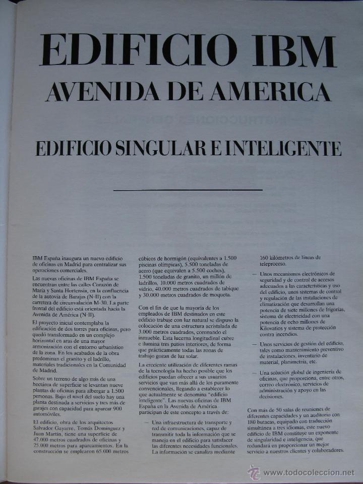 Coleccionismo Recortables: EDIFICIO IBM AVENIDA DE AMÉRICA. RECORTABLE. 1990 NUEVO. LUCERNARIOS PAPEL Y PLÁSTICO (UNICO). - Foto 3 - 51426251