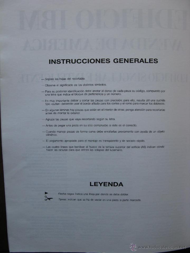 Coleccionismo Recortables: EDIFICIO IBM AVENIDA DE AMÉRICA. RECORTABLE. 1990 NUEVO. LUCERNARIOS PAPEL Y PLÁSTICO (UNICO). - Foto 4 - 51426251