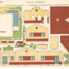 Coleccionismo Recortables: VILLA ALEGRÍA - SERIE ILUSIÓN Nº 72 - EDICIONES LA TIJERA - MEDIDAS 17 X 24 CM. Lote 51583044