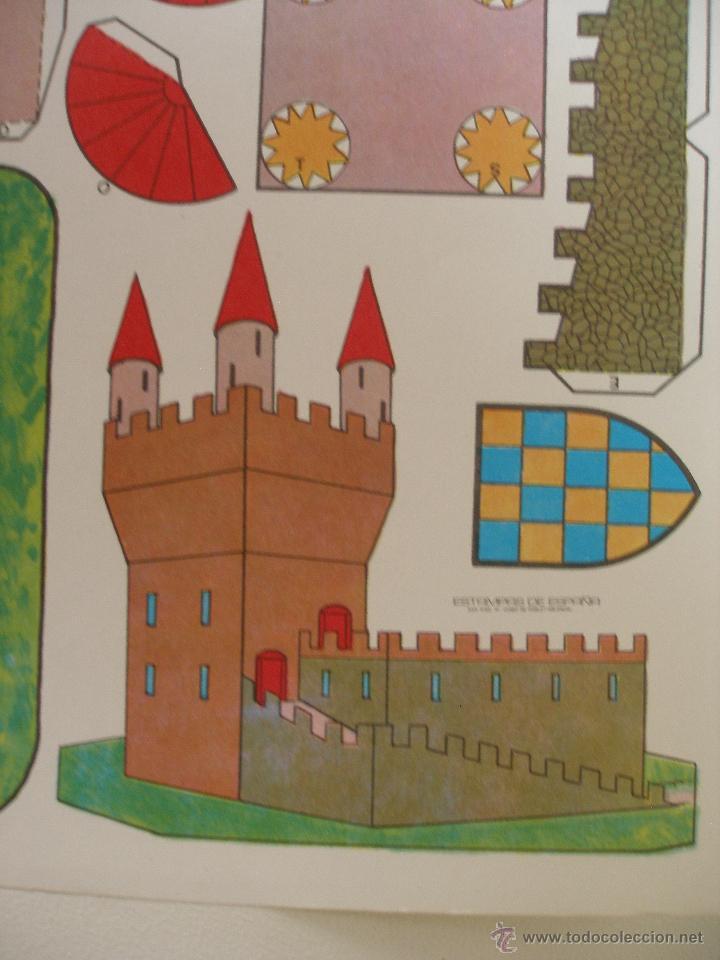 Coleccionismo Recortables: Recortable Castillo , Estampas de España años 70 - Foto 2 - 51631765