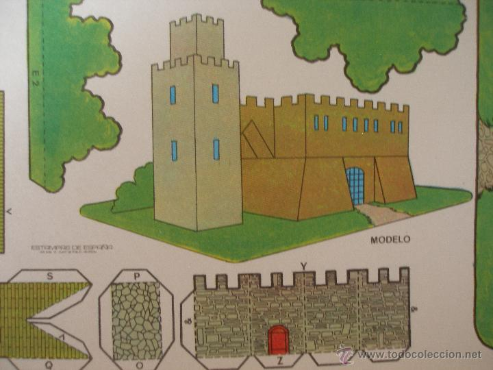 Coleccionismo Recortables: Recortable castillo , Estampas de España años 70 - Foto 2 - 51632075