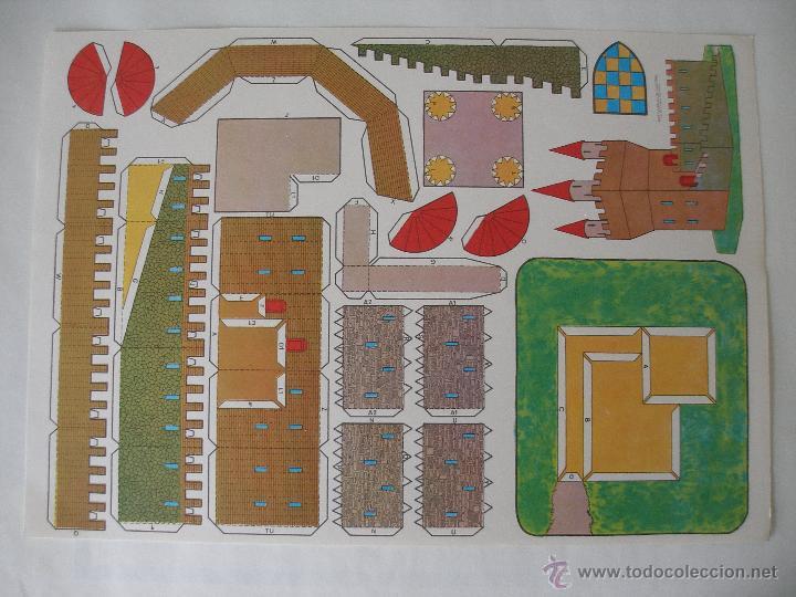 RECORTABLE CASTILLO , ESTAMPAS DE ESPAÑA AÑOS 70 (Coleccionismo - Recortables - Construcciones)