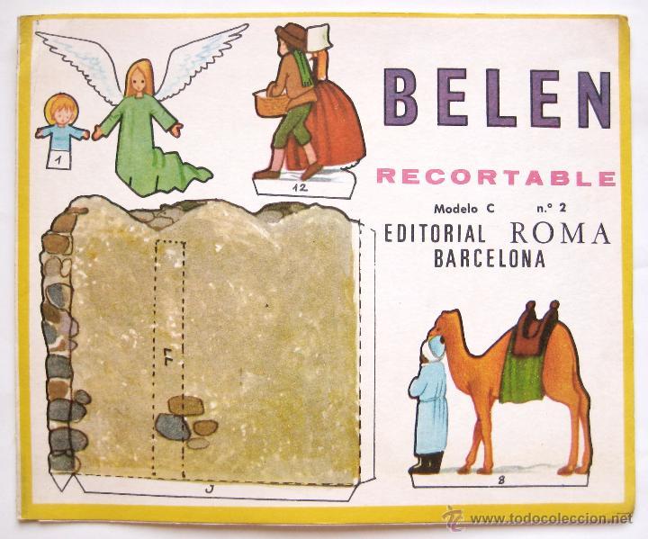MI BELEN RECORTABLE MODELO C Nº 2 EDITORIAL ROMA BARCELONA 1967 NAVIDAD (Coleccionismo - Recortables - Construcciones)