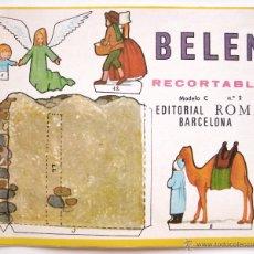 Coleccionismo Recortables: MI BELEN RECORTABLE MODELO C Nº 2 EDITORIAL ROMA BARCELONA 1967 NAVIDAD. Lote 53050894