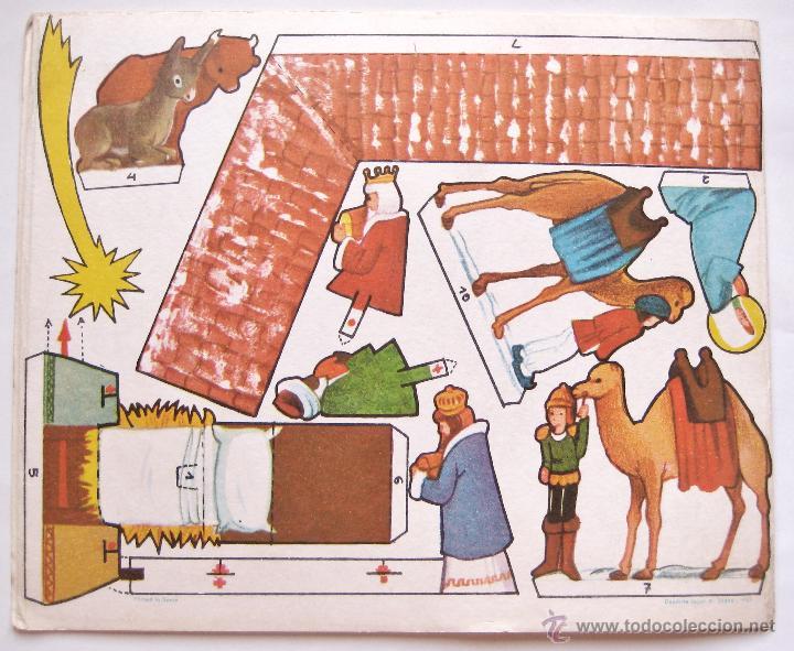 Coleccionismo Recortables: MI BELEN RECORTABLE MODELO C Nº 2 EDITORIAL ROMA BARCELONA 1967 NAVIDAD - Foto 3 - 53050894