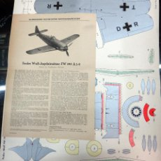Coleccionismo Recortables: RECORTABLE ANTIGUO AVION DE GUERRA , ORIGINAL . Lote 53323340
