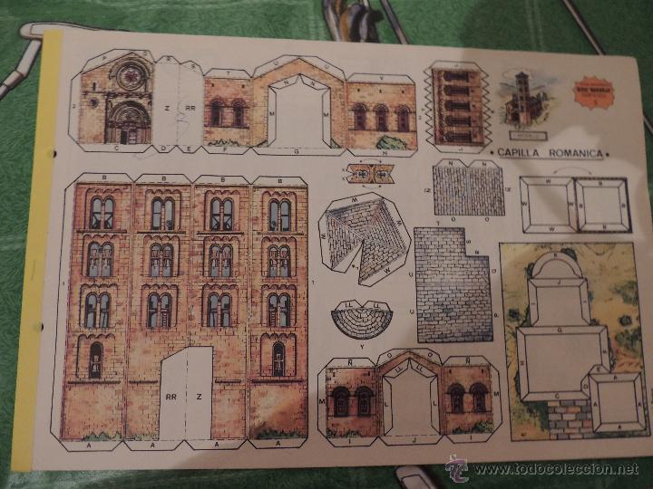RECORTABLE EDITORIAL ROMA, CAPILLA ROMANICA (Coleccionismo - Recortables - Construcciones)