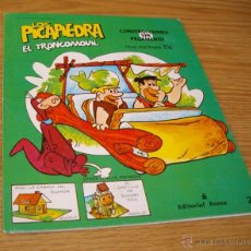 Coleccionismo Recortables: LOS PICAPIEDRA. EL TRONCOMÓVIL. CONSTRUCCIONES SIN PEGAMENTO. ED. ROMA. 1985. Lote 54165161