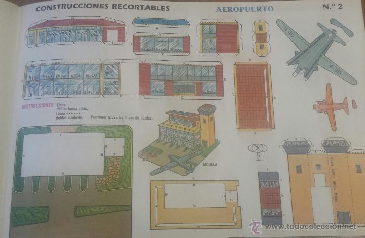 Coleccionismo Recortables: 6 RECORTABLES CONSTRUCCIONES. CUENTICOLOR. CHALET. AEROPUERTO. ESTACIÓN DE SERVICIO. 1991 - Foto 2 - 54624386