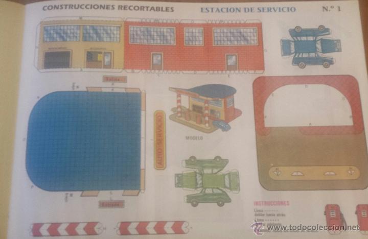 Coleccionismo Recortables: 6 RECORTABLES CONSTRUCCIONES. CUENTICOLOR. CHALET. AEROPUERTO. ESTACIÓN DE SERVICIO. 1991 - Foto 3 - 54624386