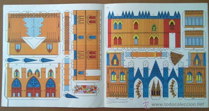 Coleccionismo Recortables: RECORTABLE MIS CONSTRUCCIONES Nº 3 CATEDRAL EDITORIAL ROMA BARCELONA 1977 26 X 26 CM (APROX) - Foto 2 - 54755056