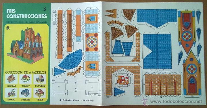 Coleccionismo Recortables: RECORTABLE MIS CONSTRUCCIONES Nº 3 CATEDRAL EDITORIAL ROMA BARCELONA 1977 26 X 26 CM (APROX) - Foto 3 - 54755056