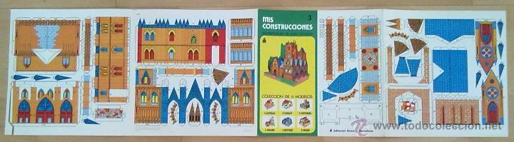 Coleccionismo Recortables: RECORTABLE MIS CONSTRUCCIONES Nº 3 CATEDRAL EDITORIAL ROMA BARCELONA 1977 26 X 26 CM (APROX) - Foto 4 - 54755056