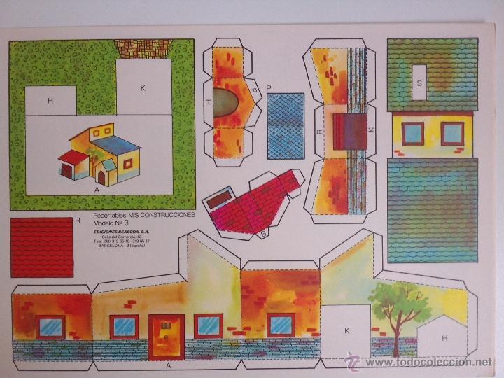 Coleccionismo Recortables: 8 RECORTABLES - MIS CONSTRUCCIONES-EDICIONES BEASCOA -recortable casa - - Foto 3 - 54826763