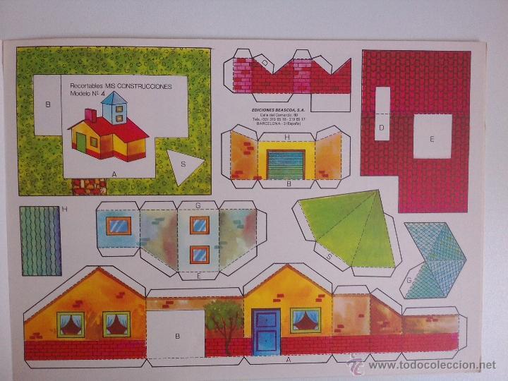Coleccionismo Recortables: 8 RECORTABLES - MIS CONSTRUCCIONES-EDICIONES BEASCOA -recortable casa - - Foto 4 - 54826763