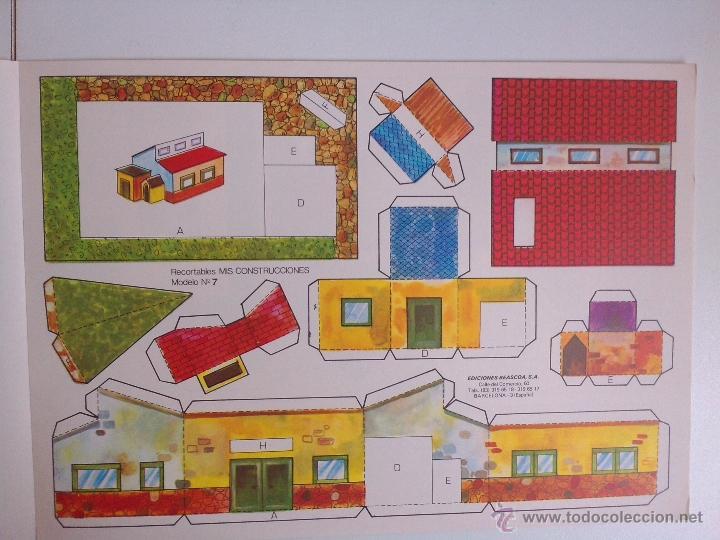 Coleccionismo Recortables: 8 RECORTABLES - MIS CONSTRUCCIONES-EDICIONES BEASCOA -recortable casa - - Foto 6 - 54826763