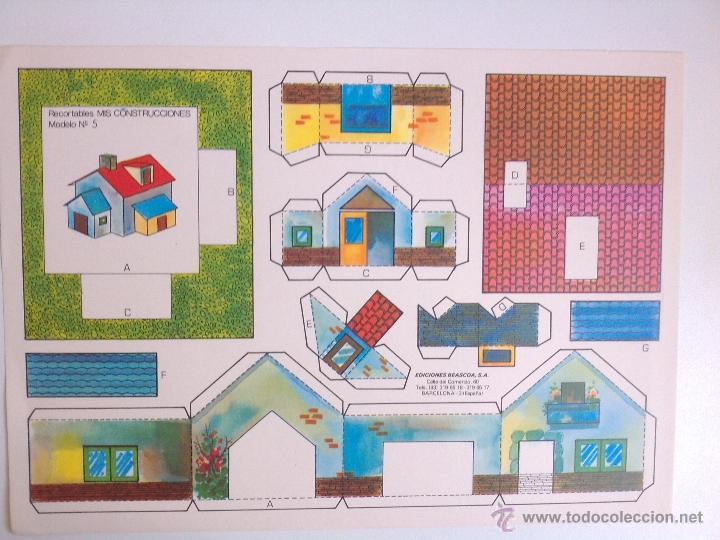 Coleccionismo Recortables: 8 RECORTABLES - MIS CONSTRUCCIONES-EDICIONES BEASCOA -recortable casa - - Foto 7 - 54826763