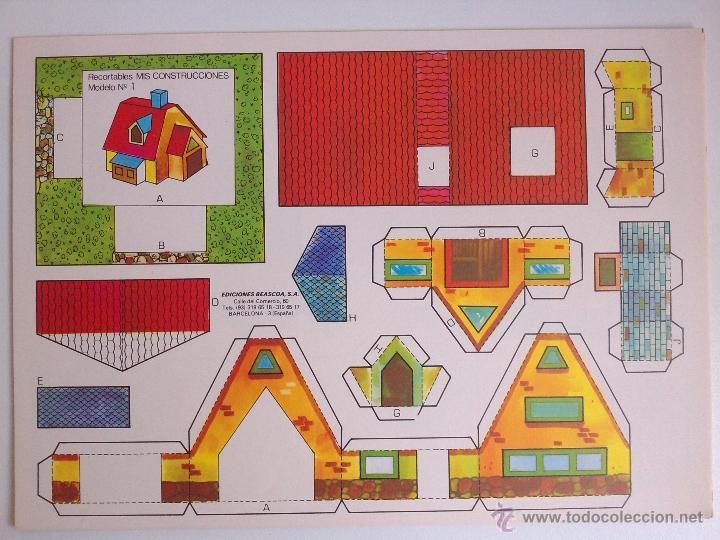 Coleccionismo Recortables: 8 RECORTABLES - MIS CONSTRUCCIONES-EDICIONES BEASCOA -recortable casa - - Foto 8 - 54826763