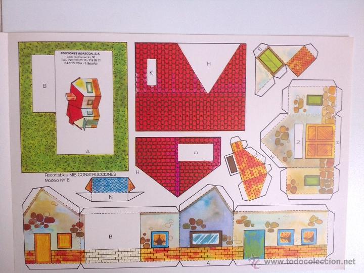 Coleccionismo Recortables: 8 RECORTABLES - MIS CONSTRUCCIONES-EDICIONES BEASCOA -recortable casa - - Foto 6 - 194009581