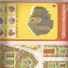 Coleccionismo Recortables: MIS CONSTRUCCIONES - Nº 5 REFUGIO - EDITORIAL ROMA. Lote 56694559