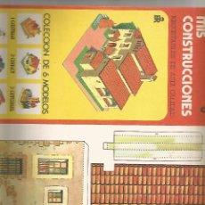 Coleccionismo Recortables: MIS CONSTRUCCIONES - Nº 6 MASIA - EDITORIAL ROMA. Lote 56694584