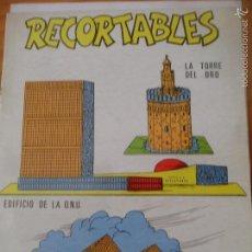 Coleccionismo Recortables: RECORTABLES Nº 11 - LA TORRE DEL ORO, EDIFICIO DE LA O.N.U. Y PIRAMIDES DE GIZEU.. Lote 56919881