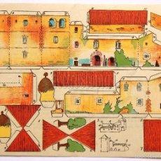 Coleccionismo Recortables: LAMINA RECORTABLE PUBLICIDAD EMULSION DE SCOTT MODELO CASA CAMPO CHALET AÑOS 50. Lote 216567162