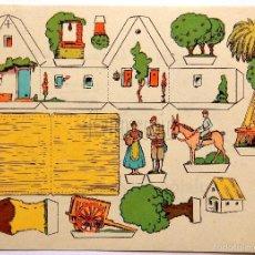 Coleccionismo Recortables: LAMINA RECORTABLE PUBLICIDAD EMULSION DE SCOTT MODELO BARRACA VALENCIANA. VALENCIA AÑOS 50. Lote 57044709