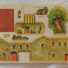 Coleccionismo Recortables: HOJA RECORTABLE CASA DE LABOR. Lote 57164165