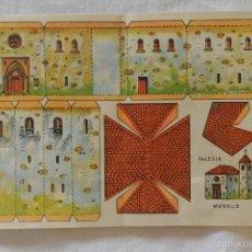 Coleccionismo Recortables: HOJA RECORTABLE MODELO IGLESIA. Lote 57164868