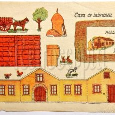 Coleccionismo Recortables: LAMINA RECORTABLE MODELO CASA DE LABRANZA POR ANARANT (21,5 X 16 CM). Lote 57757019