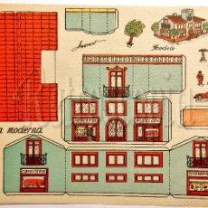 Coleccionismo Recortables: LAMINA RECORTABLE MODELO CASA MODERNA POR ANARANT (21,5 X 16 CM) . Lote 57757027