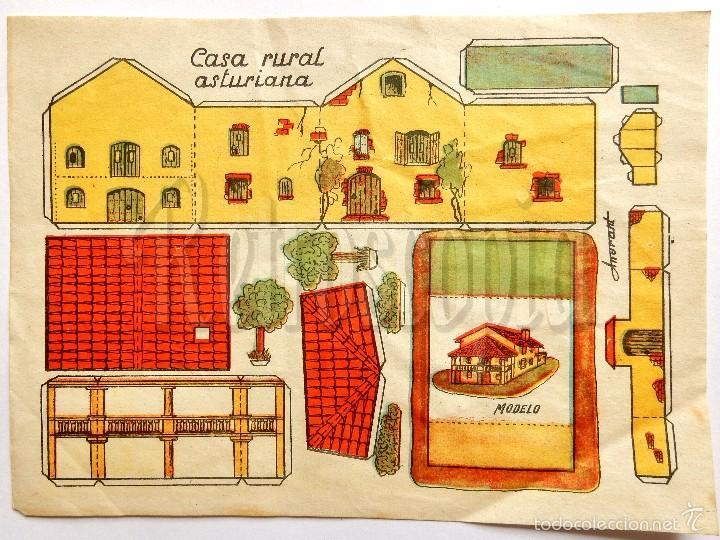 LAMINA RECORTABLE MODELO CASA RURAL ASTURIANA POR ANARANT (21,5 X 16 CM) (Coleccionismo - Recortables - Construcciones)