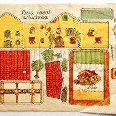 Coleccionismo Recortables: LAMINA RECORTABLE MODELO CASA RURAL ASTURIANA POR ANARANT (21,5 X 16 CM). Lote 57764981