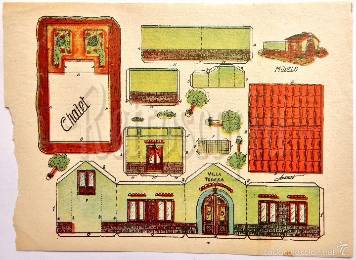 LAMINA RECORTABLE MODELO CHALET POR ANARANT (21,5 X 16 CM) (Coleccionismo - Recortables - Construcciones)