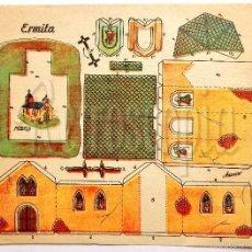 Coleccionismo Recortables: LAMINA RECORTABLE MODELO ERMITA POR ANARANT (21,5 X 16 CM). Lote 57765116